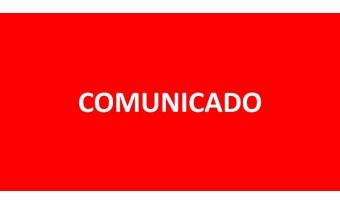 Prezado cliente: COMUNICADO
